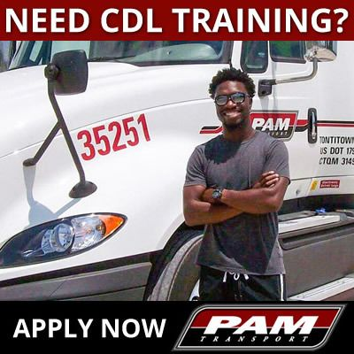 apply for PAM company-sponsored CDL training