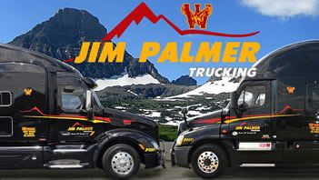 Jim Palmer trucks in the mountains