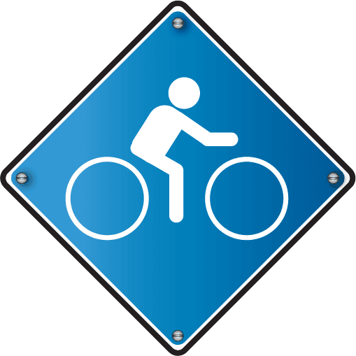 symbol of a person riding a bike