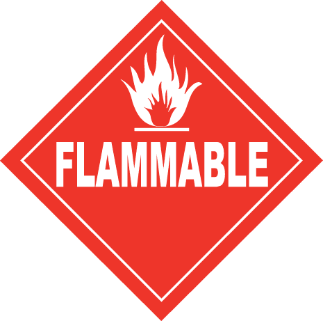 flammable placard