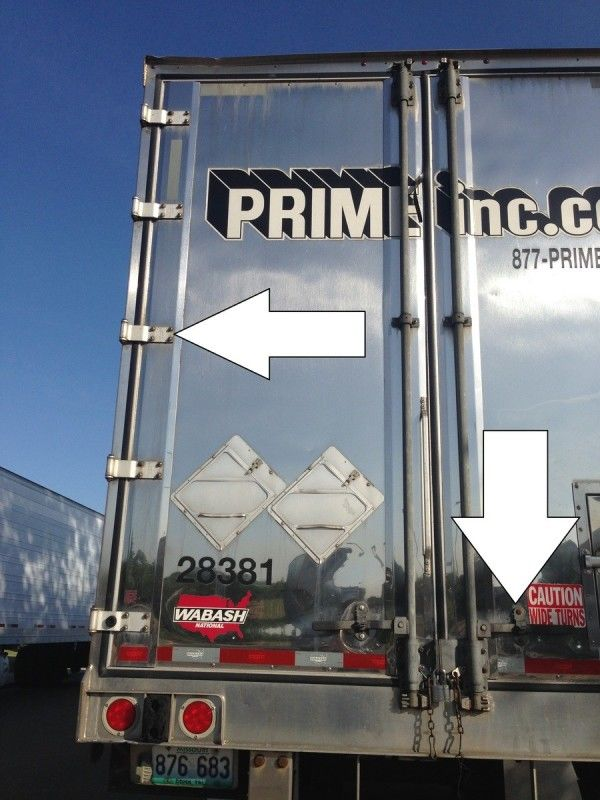 trucker pretrip inspection door hinges and latches