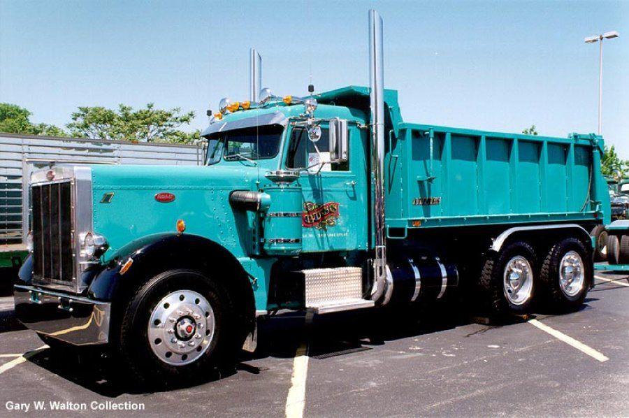 Robin Egg Blue 1970 Peterbilt 359 dump truck