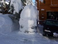 Now THATS a snowstorm . . . '67 VW Van in my driveway after an early season snowfall in Truckee