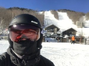 Snowboarding this morning at Whiteface Mountain near Lake Placid, NY