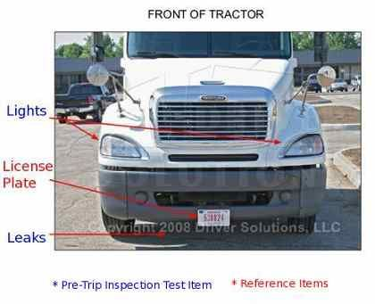 Free Cdl Pre Trip Inspection Checklist Preview Class A Pictures to pin ...