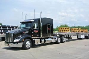 TMC loaded flatbed truck