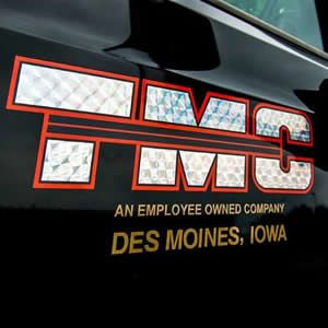 TMC truck logo close-up