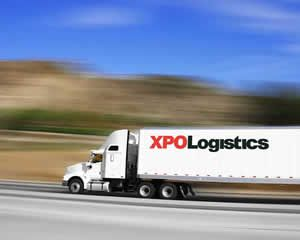 XPO Logistics truck on the road