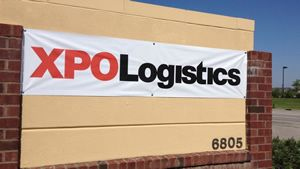 XPO terminal headquarters sign banner